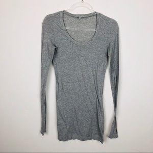Splendid Gray Long Sleeve Top Size Medium